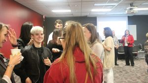 Students Mingle at 2017 MSW Graduation Reception