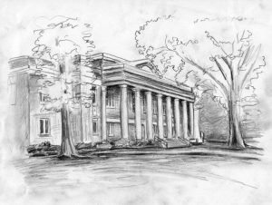 Little Hall sketched