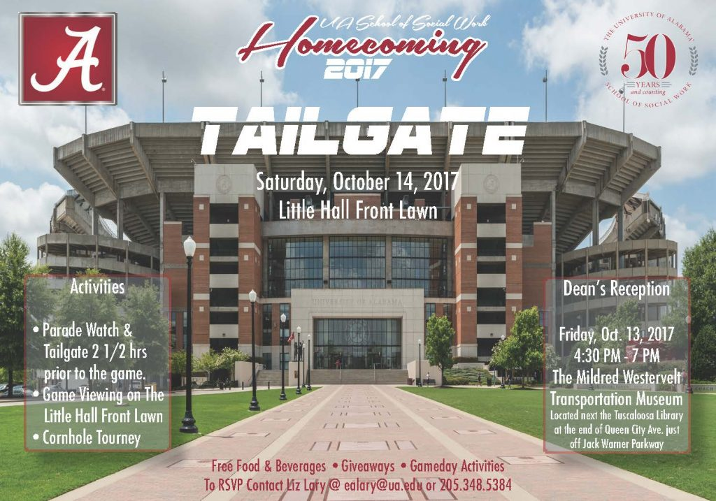 Homecoming Postcard with Bryant-Denny Stadium
