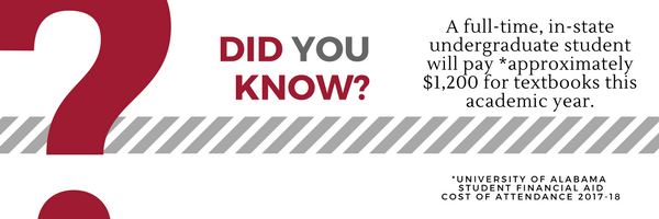 Did You Know - 'A full-time, in-state undergrad student will pay aprox $1,200 for books this year'