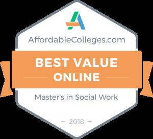 affordablecolleges.com Best Value Online Master's in Social Work 2018