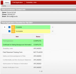 Click field application from top menu bar